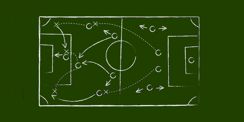 The football strategy: find vacant positions and play there